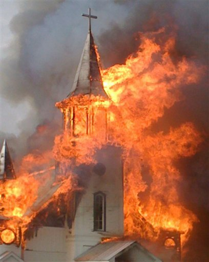 church flames